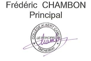 signature 2 principal